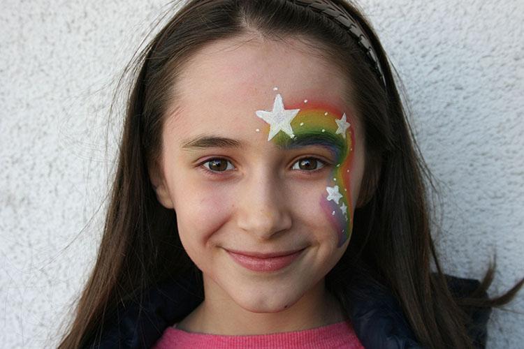 ©Libellula Kinderschminken Köln - Rainbow Girl