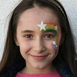 © Libellula Kinderschminken - Rainbow Girl